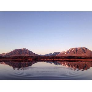 フリー写真, 風景, 自然, 山, 湖, アイスランドの風景, 波紋