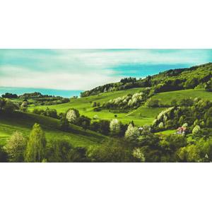 フリー写真, 風景, 田舎, 牧草地, ドイツの風景
