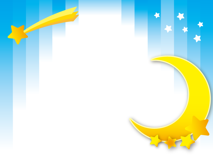 フリーイラスト 三日月と流れ星の背景