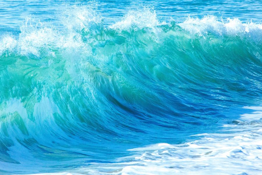 フリー写真 波立つ海の風景