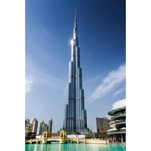 フリー写真, 風景, 建造物, 建築物, 高層ビル, ブルジュ・ハリファ, ドバイ, アラブ首長国連邦の風景