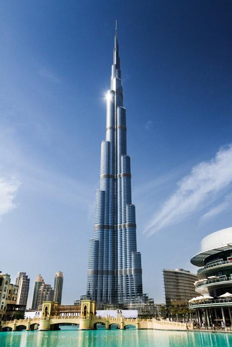 フリー写真 ドバイの超高層ビル、ブルジュ・ハリファの風景