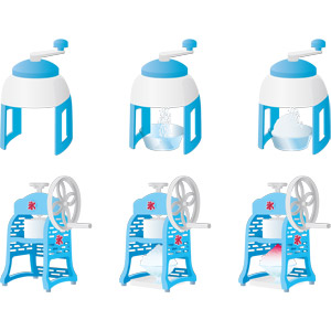 フリーイラスト, ベクター画像, AI, かき氷器, 夏, かき氷