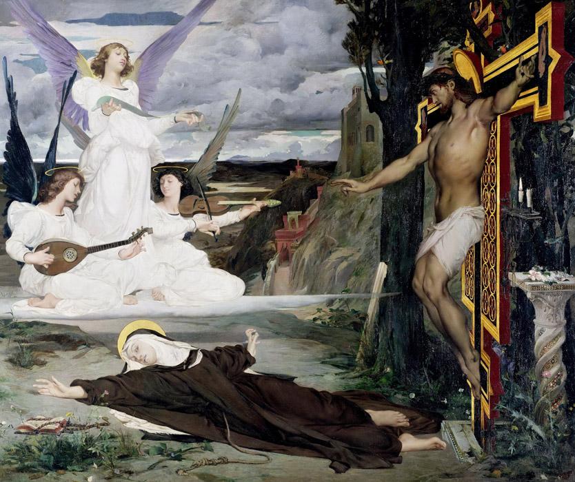 フリー絵画 リュック=オリヴィエ・メルソン作「幻視 14世紀の伝説」