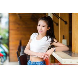 フリー写真, 人物, 女性, アジア人女性, 楚珊(00053), 中国人, チビT, ポニーテール