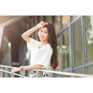 フリー写真, 人物, 女性, アジア人女性, 楚珊(00053), 中国人, 額に手を当てる