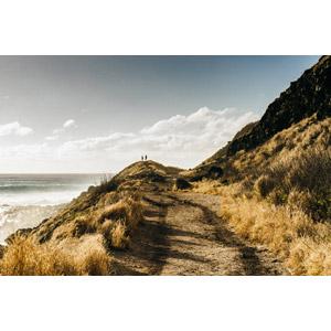 フリー写真, 風景, 海岸, 崖, 海, 人と風景, カップル, アメリカの風景