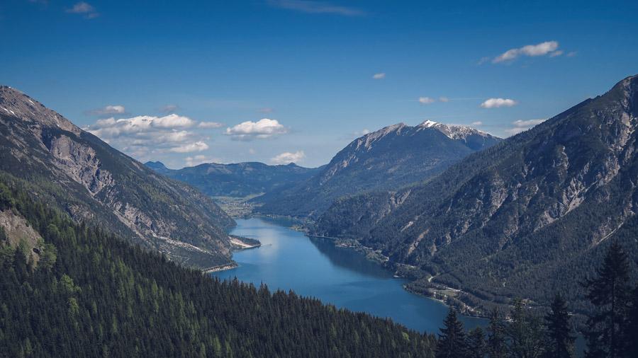 フリー写真 オーストリアのアーヘン湖の風景