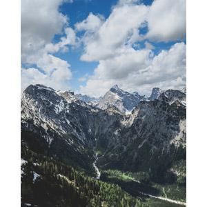 フリー写真, 風景, 自然, 山, 雲, オーストリアの風景