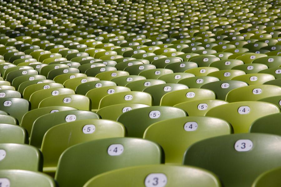 フリー写真 ミュンヘン・オリンピアシュタディオンの座席の風景