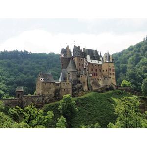 フリー写真, 風景, 建造物, 建築物, 城, ドイツの風景, エルツ城