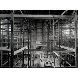 フリー写真, 風景, 建造物, 建築物, 工事, 市庁(市役所), ニュージーランドの風景, モノクロ