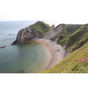 フリー写真, 風景, ビーチ(砂浜), 海, 崖, 海岸, 世界遺産, イギリスの風景, ジュラシック・コースト, イングランド, ドーセットと東デヴォンの海岸