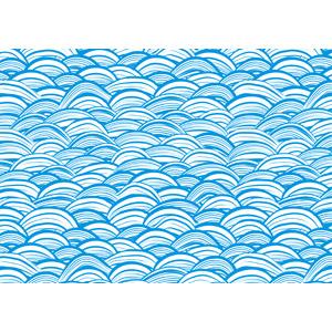 フリーイラスト, ベクター画像, AI, 背景, 和柄, 青海波, 海, 波, 青色(ブルー)