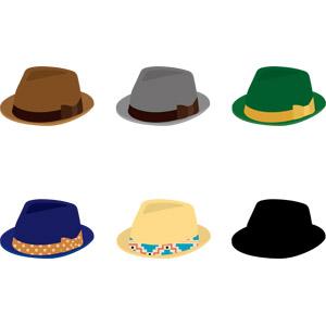 フリーイラスト, ベクター画像, AI, 帽子, 中折れハット