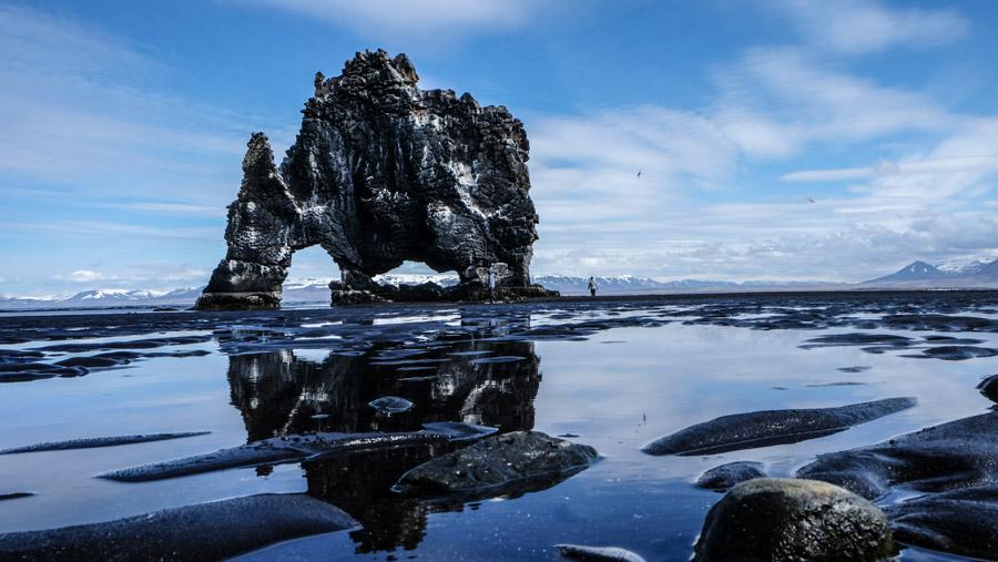 フリー写真 クヴィートセルクールの岩の風景