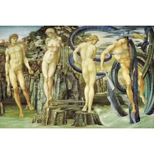 フリー絵画, エドワード・バーン=ジョーンズ, 物語画, 神話, ギリシア神話, ペルセウス, アンドロメダ, 怪獣