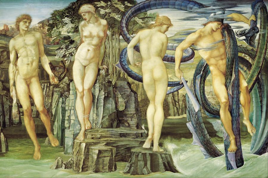フリー絵画 エドワード・バーン=ジョーンズ作「ペルセウスとアンドロメダ」