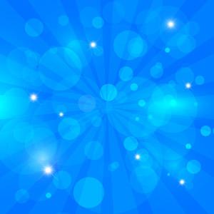 フリーイラスト, ベクター画像, AI, 背景, 抽象イメージ, 放射線状, 玉ボケ, 青色(ブルー)