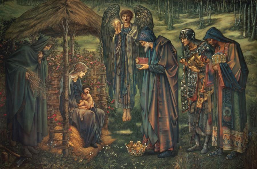 フリー絵画 エドワード・バーン=ジョーンズ作「ベツレヘムの星」