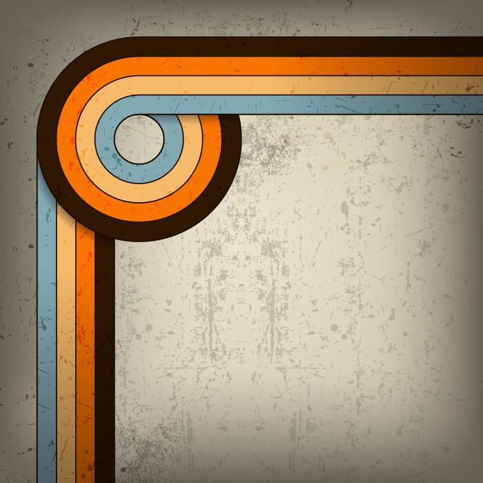 フリーイラスト 曲線と汚れの背景