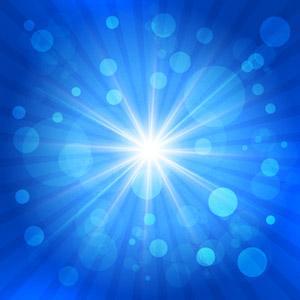 フリーイラスト, ベクター画像, AI, 背景, 抽象イメージ, 光(ライト), 放射線状, 玉ボケ, 青色(ブルー), 閃光