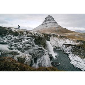 フリー写真, 風景, 山, 滝, 河川, 人と風景, アイスランドの風景