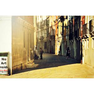 フリー写真, 風景, 建造物, 建築物, 路地, イタリアの風景, ヴェネツィア(ベネチア), 街並み(町並み)