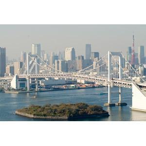 フリー写真, 風景, 建造物, 建築物, 高層ビル, 都市, 街並み(町並み), 橋, レインボーブリッジ, 東京タワー, 日本の風景, 東京都