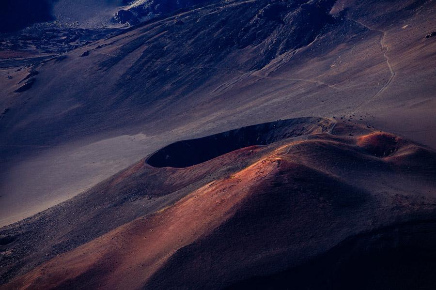 フリー写真 ハレアカラ国立公園のハレアカラ・クレーターの風景