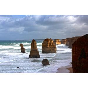 フリー写真, 風景, 自然, 海, 海食柱, オーストラリアの風景, 十二使徒(ビクトリア州), 岩