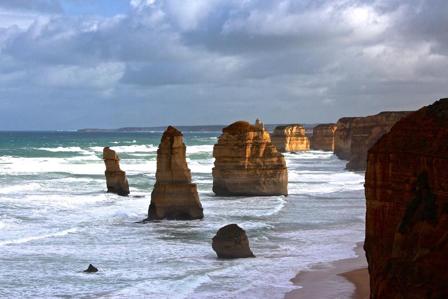 フリー写真 ビクトリア州の十二使徒の奇岩の風景