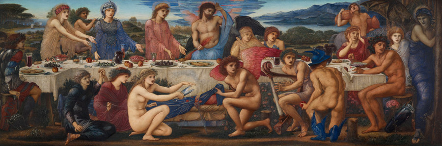 フリー絵画 エドワード・バーン=ジョーンズ作「ペレウスの饗宴」