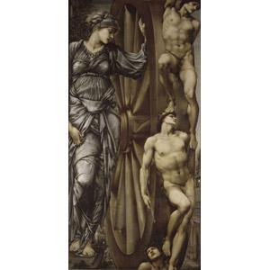フリー絵画, エドワード・バーン=ジョーンズ, 物語画, 神話, ローマ神話, フォルトゥーナ, 女神, 運命, 車輪