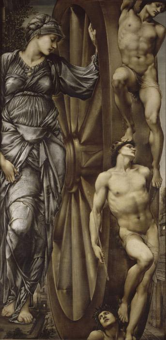 フリー絵画 エドワード・バーン=ジョーンズ作「運命の女神の車輪」