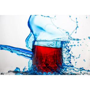 フリー写真, 背景, 水しぶき, コップ, 水
