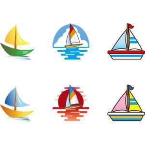 フリーイラスト, ベクター画像, AI, 乗り物, 船, ヨット