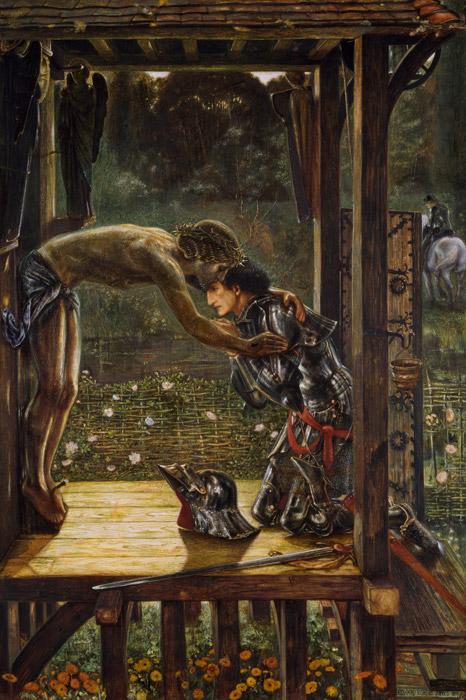 フリー絵画 エドワード・バーン=ジョーンズ作「慈悲深き騎士」