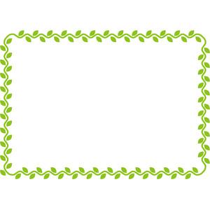 フリーイラスト, ベクター画像, AI, 背景, フレーム, 囲みフレーム, 植物, 蔦(ツタ)