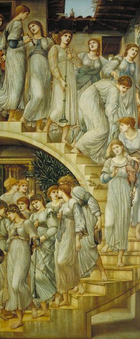 フリー絵画 エドワード・バーン=ジョーンズ作「黄金の階段」