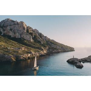 フリー写真, 風景, 海岸, 海, 乗り物, 船, ヨット, フランスの風景, マルセイユ