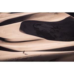 フリー写真, 風景, 砂漠, 砂丘, 人と風景, アメリカの風景