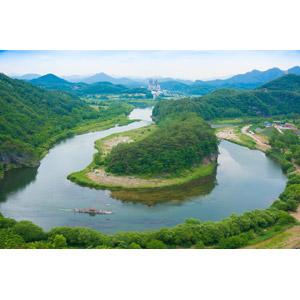フリー写真, 風景, 河川, 韓半島地形, 韓国の風景
