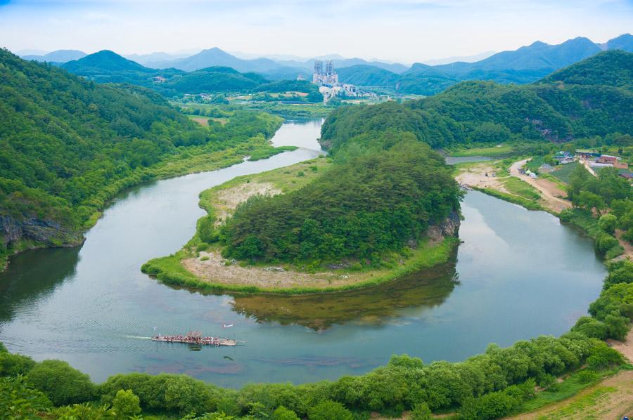 フリー写真 寧越の韓半島地形の風景
