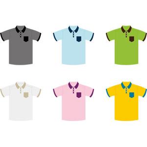 フリーイラスト, ベクター画像, AI, 衣服(衣類), ポロシャツ, メンズファッション, レディースファッション