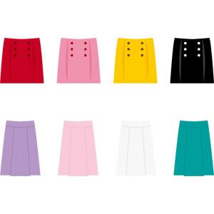 フリーイラスト, ベクター画像, AI, 衣服(衣類), スカート, ミニスカート, レディースファッション