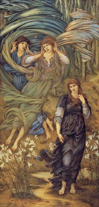 フリー絵画 エドワード・バーン=ジョーンズ作「レバノンの花嫁」