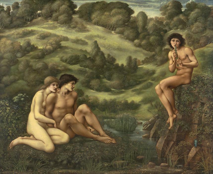 フリー絵画 エドワード・バーン=ジョーンズ作「牧神の庭」