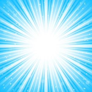 フリーイラスト, ベクター画像, AI, 背景, 抽象イメージ, 光(ライト), 放射線状, 青色(ブルー), 閃光, 星(スター)