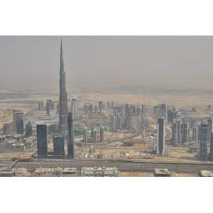 フリー写真, 風景, 建造物, 建築物, 高層ビル, 都市, 街並み(町並み), ブルジュ・ハリファ, ドバイ, アラブ首長国連邦の風景
